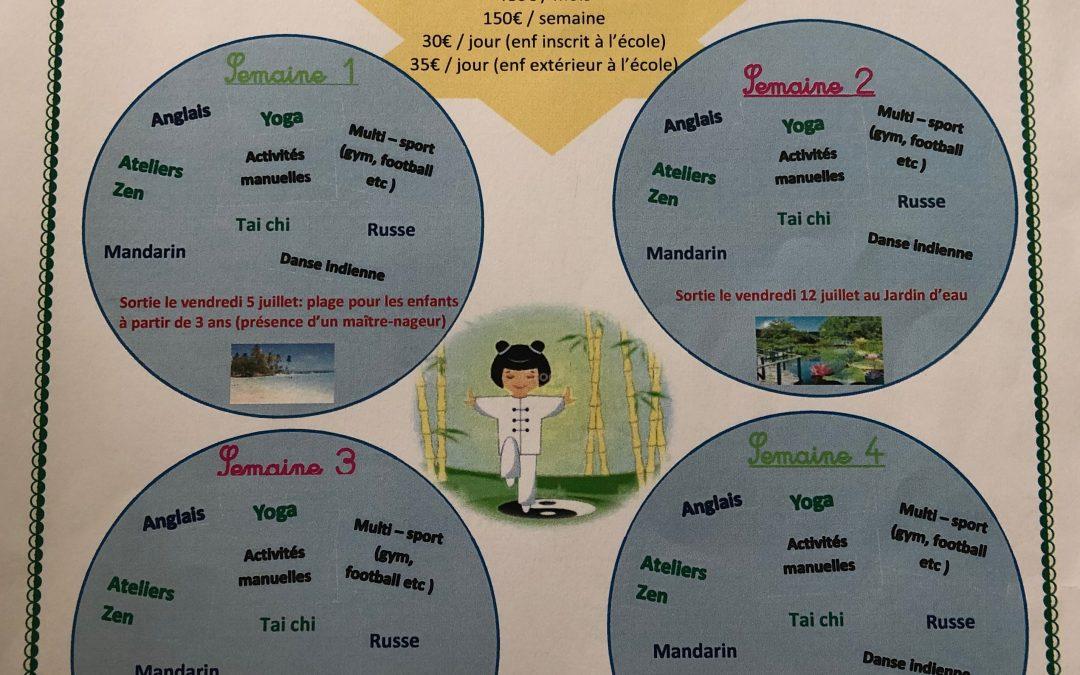 Soyons Zen en juillet à Karuk school !!!